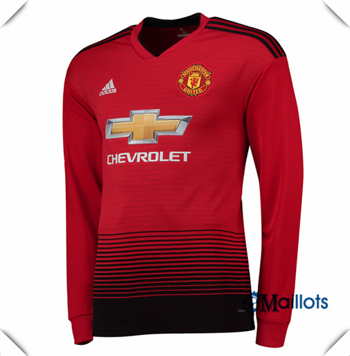 Maillot Manchester United football Domicile Manche Longue 2018