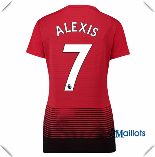 Maillot Femme Manchester United football Domicile 7 Alexis 2018