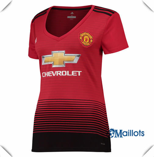 Maillot Femme Manchester United football Domicile 2018