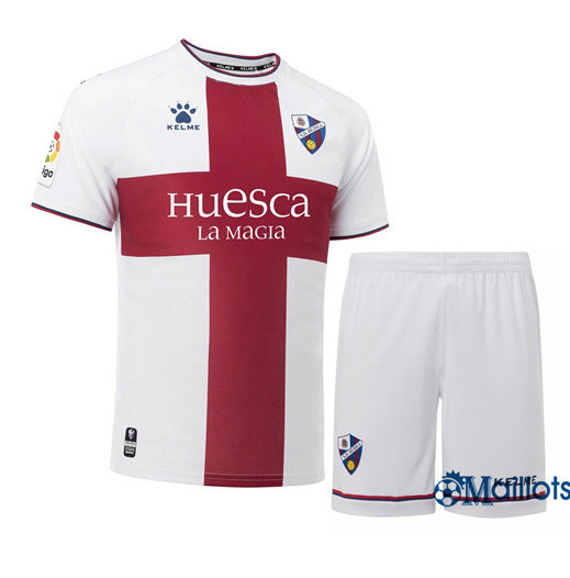 Ensemble Maillot foot Junior SD Huesca Blanc/Rouge Exterieur 2018/19