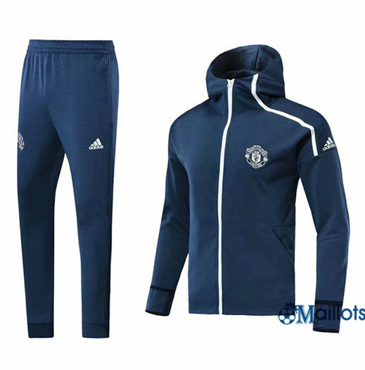 Veste Survetement Manchester United royalblue 2018/19 a Capuche