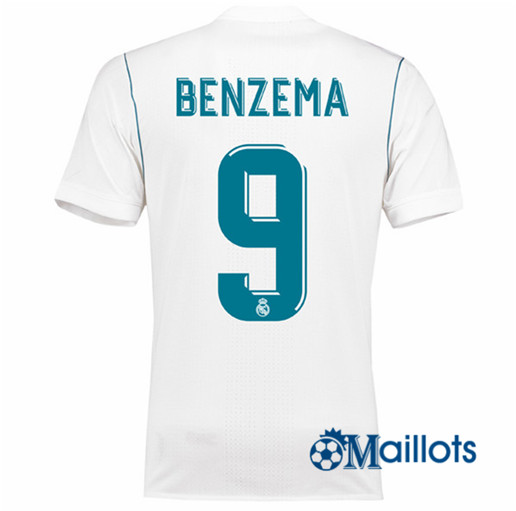 Maillot Real Madrid Domicile Benzema 9 2017 2018