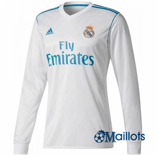 Maillot Real Madrid Domicile Manches Longues 2017 2018