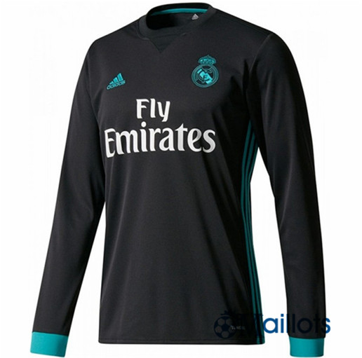 Maillot Real Madrid Exterieur Manches Longues 2017 2018