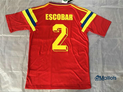 Maillot Rétro foot Colombie Rouge -2 1990