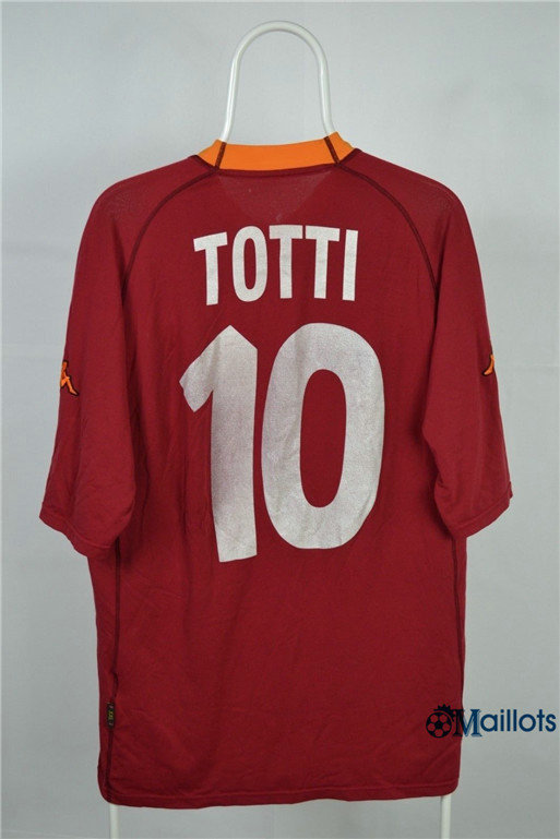 Maillot Rétro football AS Roma Domicile (10 Totti) 2000-01
