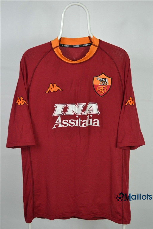 Maillot sport Vintage AS Roma Domicile 2000-01