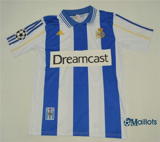 Maillot Rétro football Deportivo Domicile 2000-01
