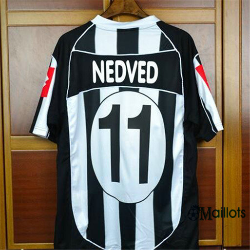 Maillot Rétro football Champions League Juventus Domicile (11 Nedved) 2002-03