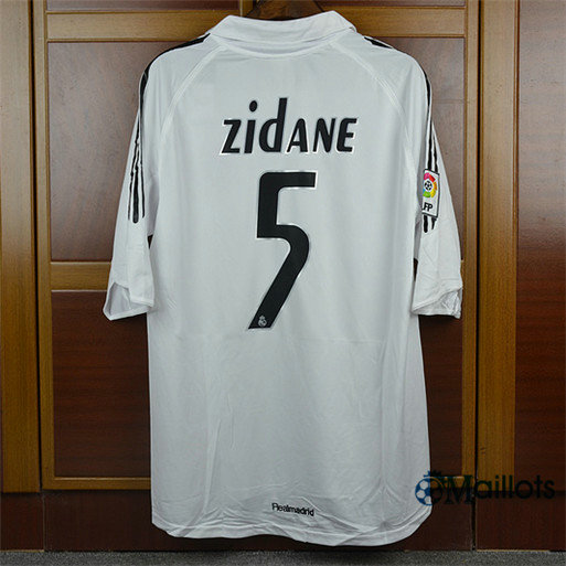 Maillot Rétro football Real Madrid Domicile (5 Zidane) 2005-06