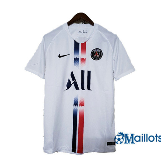 Maillot football PSG Blanc Version Fuite 2019 2020