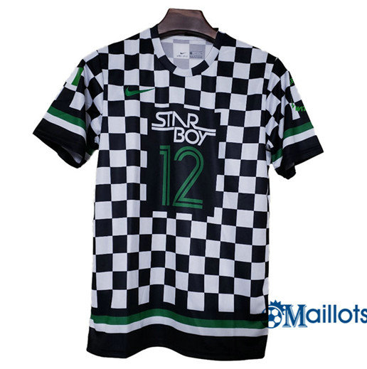 Maillot football Nigéria Plaid Noir/Blanc 2018-2019