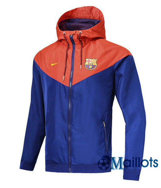 Veste training football Windrunner Authentic Barcelone Bleu/Rouge a capuche 2018 2019