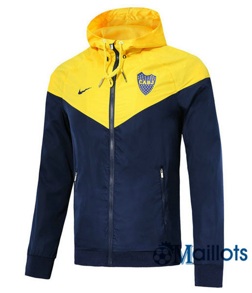 Veste training football Windrunner Authentic Boca Jaune a capuche 2018 2019