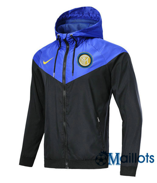 Veste training football Windrunner Authentic Inter Milan Noir/Bleu a capuche 2018 2019