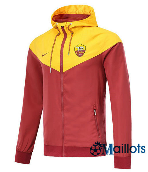 Veste training football Windrunner Authentic AS Roma Rouge a capuche 2018 2019