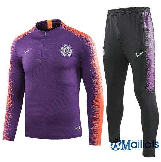 Survêtement training Manchester City Junior football Violet/Rouge Joueurs 2018 2019