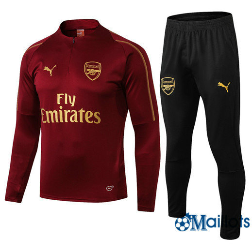 Survêtements Ensemble foot Arsenal Rouge Col haut 2018/19