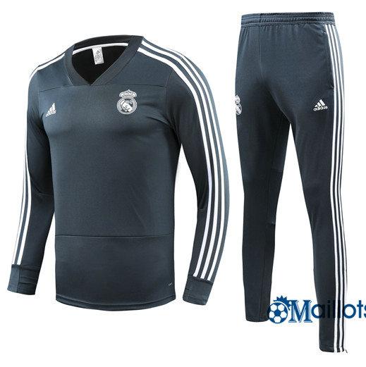 5e2a7983d8 Jeux de Ensemble Survêtement Junior Real Madrid foot Gris/Vert Col V ...