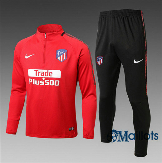 Eensemble Survêtement football Atletico Madrid Rouge 2017/2018
