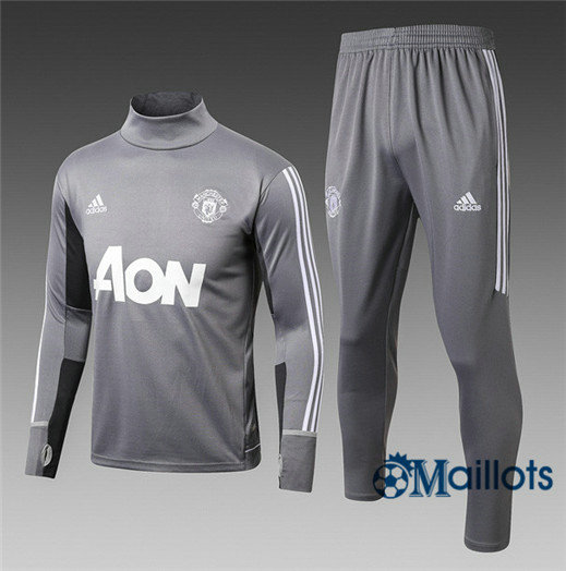 Eensemble Survêtement football Manchester United Gris Col haut 2017/2018