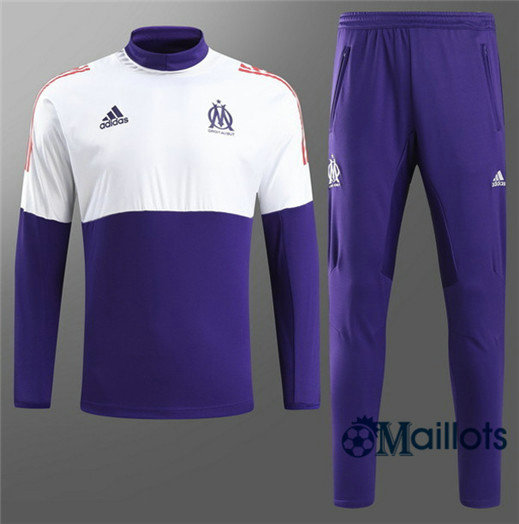 Eensemble Survêtement football Marseille Violet Blanc Champion League 2018/2019