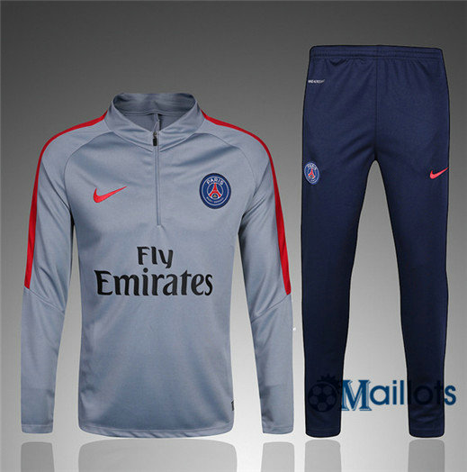 Eensemble Survêtement football PSG Gris/rouge 2017/2018