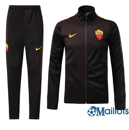 Veste Survêtement Foot - Ensemble AS Roma Noir 2017/2018
