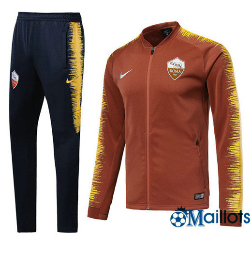 Veste Survêtement Foot - Ensemble AS Roma Orange Strike Drill 2018/2019