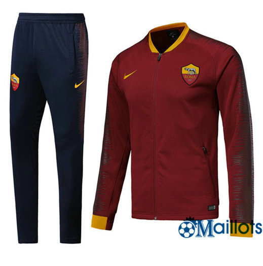 Veste Survêtement Foot - Ensemble AS Roma Rouge Strike Drill 2018/2019