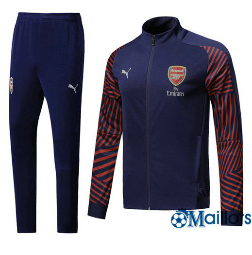 Veste Survêtement Foot - Ensemble Arsenal Bleu Marine Strike Drill 2018/2019