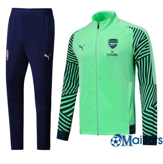 Veste Survêtement Foot - Ensemble Arsenal Bleu/Vert Strike Drill 2018/2019