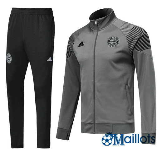 Veste Survêtement Foot - Ensemble Bayern Munich Gris 2018/2019