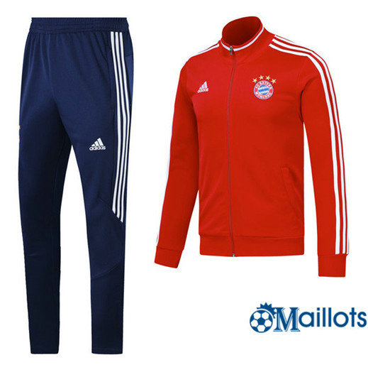 Veste Survêtement Foot - Ensemble Bayern Munich Rouge/Blanc 2017/2018