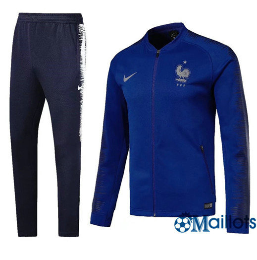 Veste Survêtement Foot - Ensemble France Bleu 2018/2019
