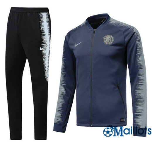 Veste Survêtement Foot - Ensemble Inter Milan Bleu Strike Drill 2018/2019
