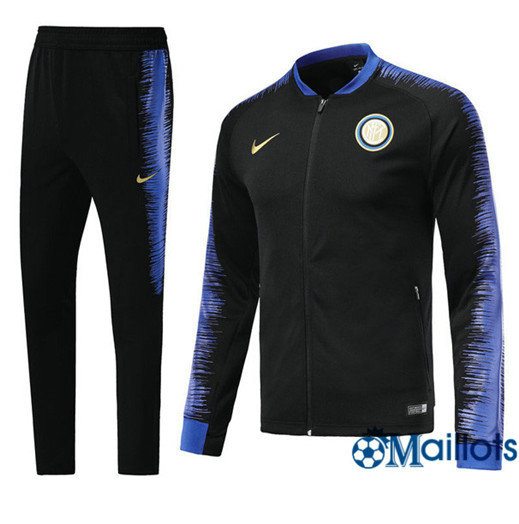 Veste Survêtement Foot - Ensemble Inter Milan Noir Strike Drill 2018/2019