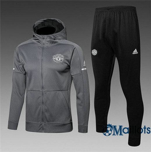 Veste Survêtement Foot - Ensemble Manchester United Gris 2017/2018