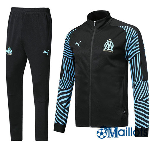 Veste Survêtement Foot - Ensemble Marseille Noir Strike Drill 2018/2019