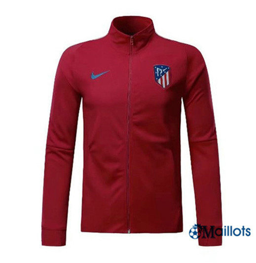 Veste Training Atletico Madrid Rouge Fonce 2017/2018