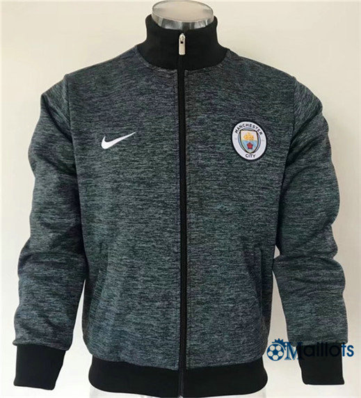 Veste Training Manchester City Bleu Noir 2017/2018