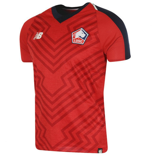 Maillot Football Lille OSC Rouge Domicile 2018 2019