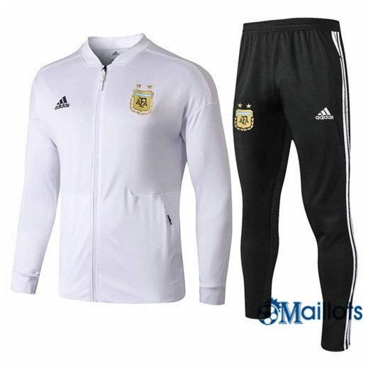 Veste Survetement Argentine Blanc 2019 2020