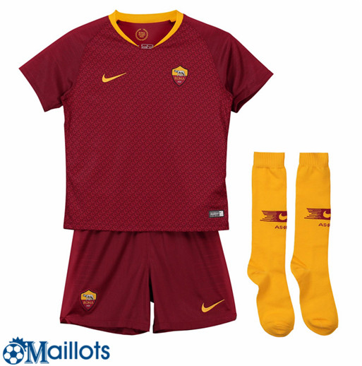 AS Roma Foot Maillot Enfant Domicile 2018 2019