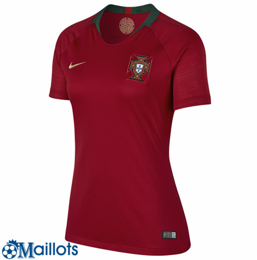 Portugal Foot Maillot Femme Foot Maillot Domicile 2018 2019