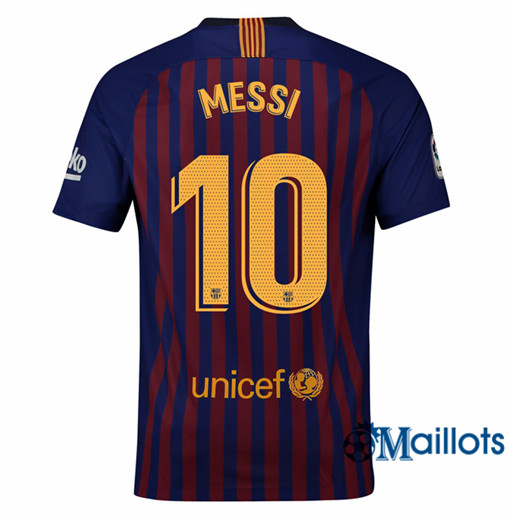 Maillot de Football Barcelone 10 Messi Domicile 2018 2019
