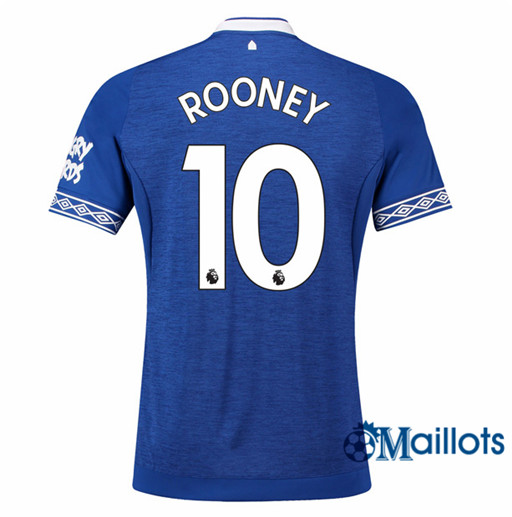 Maillot de Football Everton 10 Wayne Rooney Domicile 2018 2019