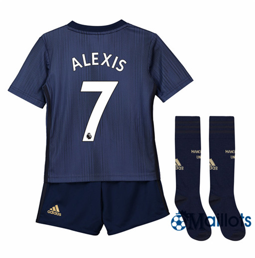 Ensemble Maillot Enfant Manchester United 7 Alexis Third 2018 2019