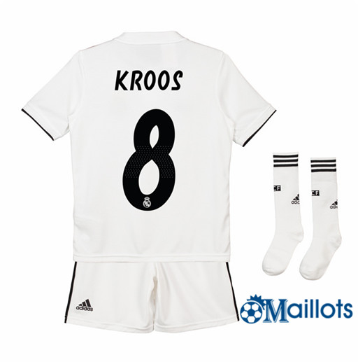 Ensemble Maillot Enfant Real Madrid 8 Kroos Domicile 2018 2019