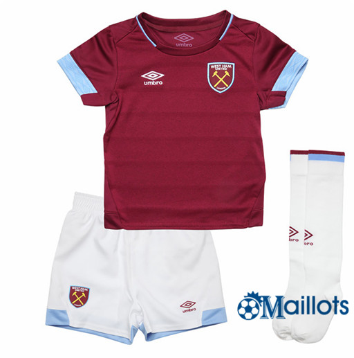 Ensemble Maillot Enfant West Ham United Domicile 2018 2019